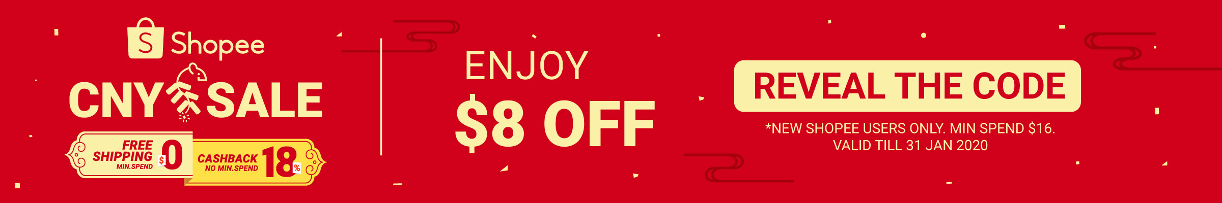 Shopee CNY Sale 2 - 31 Jan