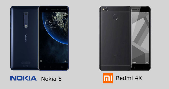 Comparing Nokia 5 Vs Xiaomi Redmi 4X Which Is Better