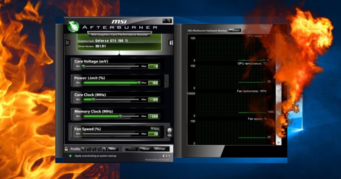 MSI Afterburner makes your PC run games faster